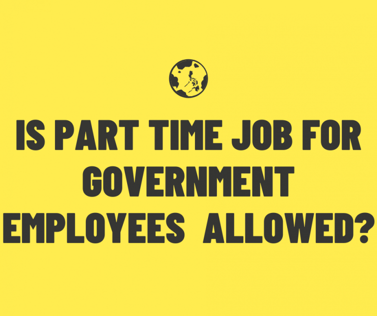 Is part time job for government employees allowed