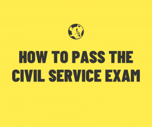 How to pass the civil service exam