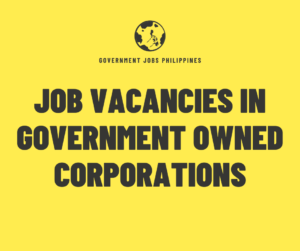 Job Vacancies in Government Owned Corporations
